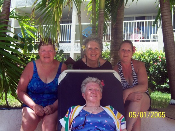 Cari's mom, her mom's two sisters, and her mom's mom