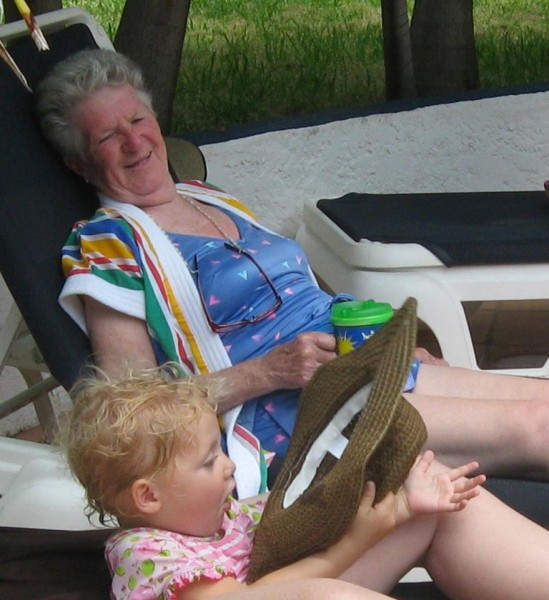 Piper chillin' with Great Grandma May