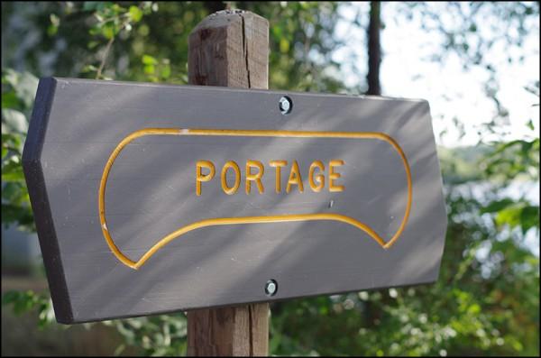 Portage around the damn
