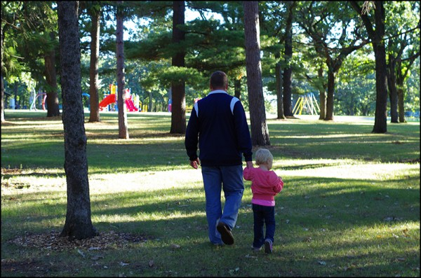 Daddy and Piper at Riverside Park