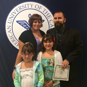 David Kenneally and his family -- fellow AUC'ers! (...and readers of our family blog)