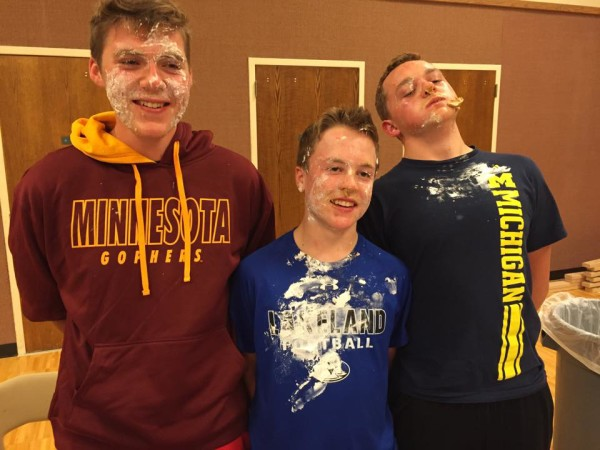Tanner, Alec and Andrew - Post Pie Eating Contest