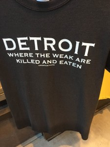A t-shirt I saw in a shop in Ann Arbor